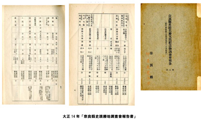 「奈良縣史蹟勝地調査會報告書」